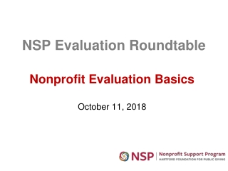 Evaluation Basics