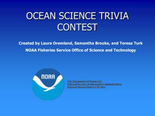 OCEAN SCIENCE TRIVIA CONTEST