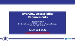 Overview Accessibility Requirements Presented by: