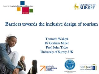 Barriers towards the inclusive design of tourism