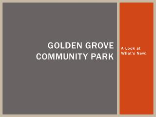 Golden Grove  Community Park