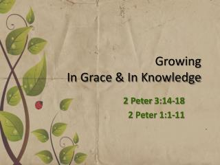 Growing  I n Grace & In Knowledge