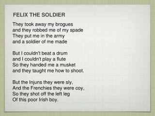 FELIX THE SOLDIER