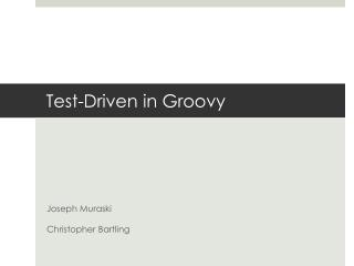 Test-Driven in Groovy