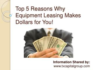 Benefits of Equipment Leasing