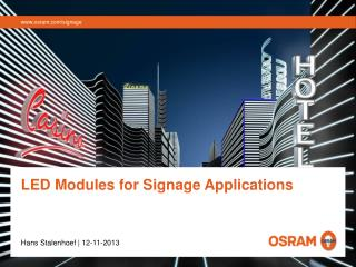 LED Modules for Signage Applications