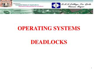OPERATING SYSTEMS  DEADLOCKS
