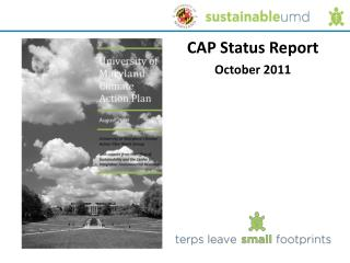 CAP Status Report October  2011