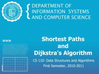 Shortest Paths and Dijkstra's Algorithm