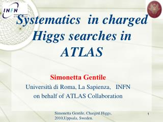 Systematics   in charged Higgs searches in ATLAS