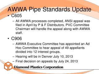 AWWA Pipe Standards Update