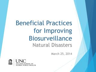 Beneficial Practices for Improving Biosurveillance