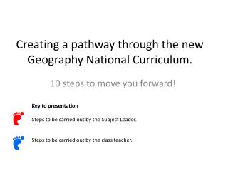Creating a pathway through the new Geography National Curriculum.
