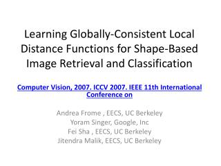 Computer Vision, 2007. ICCV 2007. IEEE 11th International Conference on