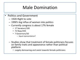 Male Domination