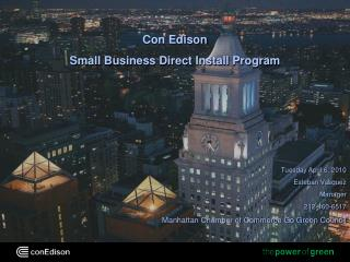 Con Edison Small Business Direct Install Program