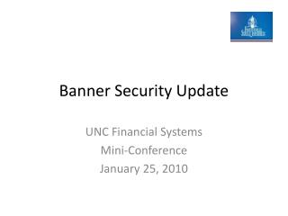 Banner Security Update