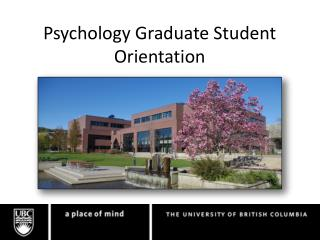Psychology Graduate Student Orientation