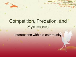Competition, Predation, and Symbiosis