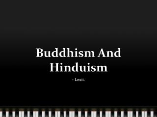 Buddhism And Hinduism