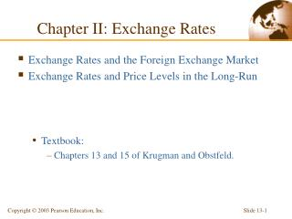 Chapter II: Exchange Rates