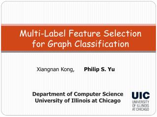 Multi-Label Feature Selection  for Graph Classification