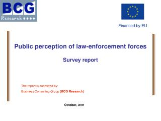 Public perception of law-enforcement forces Survey report