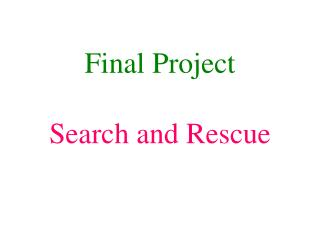Final Project Search and Rescue