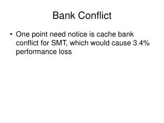 Bank Conflict