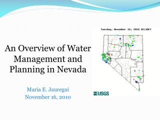 An Overview of Water Management and Planning in Nevada