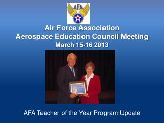 Air Force Association  Aerospace Education Council Meeting March 15-16 2013
