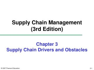 Chapter 3 Supply Chain Drivers and Obstacles