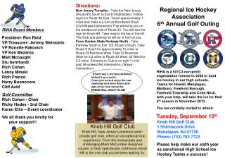 Regional Ice Hockey Association  6 th  Annual Golf Outing