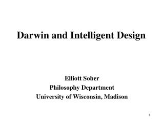 Darwin and Intelligent Design