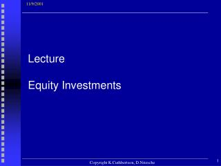 Lecture Equity Investments