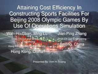 Wah-Ho Chan, Ming Lu Dept. Of Civil and Structural Engineering Hong Kong Polytechnic University