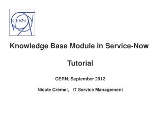 Basic concepts and demo in service portal (search KB articles)   KB Process, Work-flow and Roles