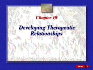 Chapter 10 Developing Therapeutic Relationships