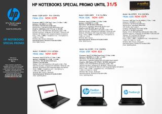 HP NOTEBOOKS SPECIAL PROMO