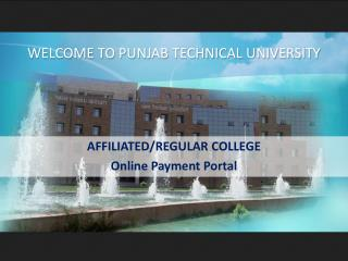 AFFILIATED/REGULAR COLLEGE Online Payment Portal