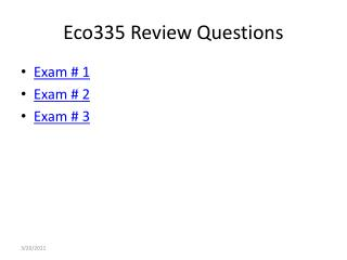 Eco335 Review Questions