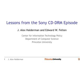 Lessons from the Sony CD-DRM Episode