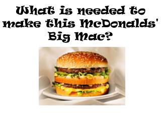 What is needed to make this McDonalds' Big Mac?