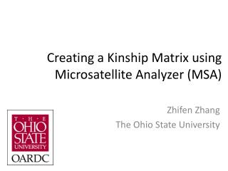 Creating a Kinship Matrix using Microsatellite Analyzer (MSA)