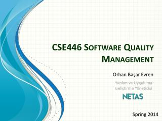 CSE446 Software Quality Management