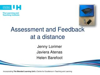 Assessment and Feedback at a distance
