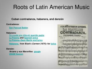 Roots of Latin American Music