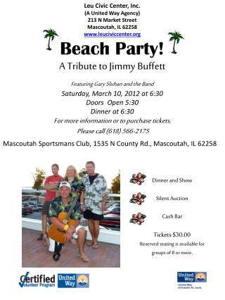 Beach Party! A Tribute to Jimmy Buffett