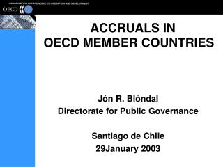 ACCRUALS IN OECD MEMBER COUNTRIES