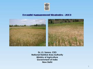 Drought Management Strategies  –  2009
